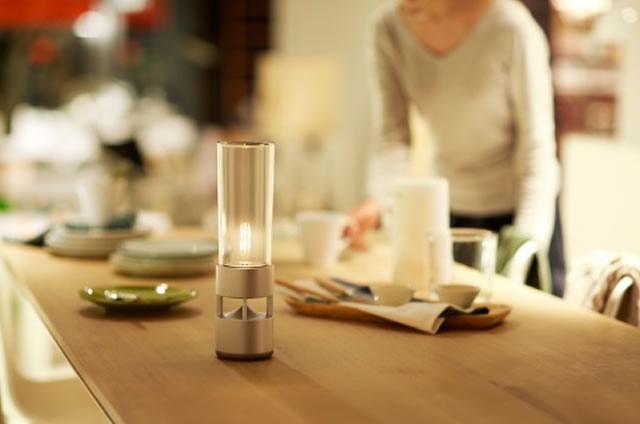 Sony glass sound lampada da tavolo